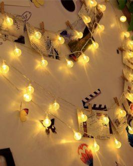 New 50 LEDS 10M Crystal ball Solar Lamp Power LED String Fairy Lights Solar Garlands Garden Christmas Decor For Outdoor