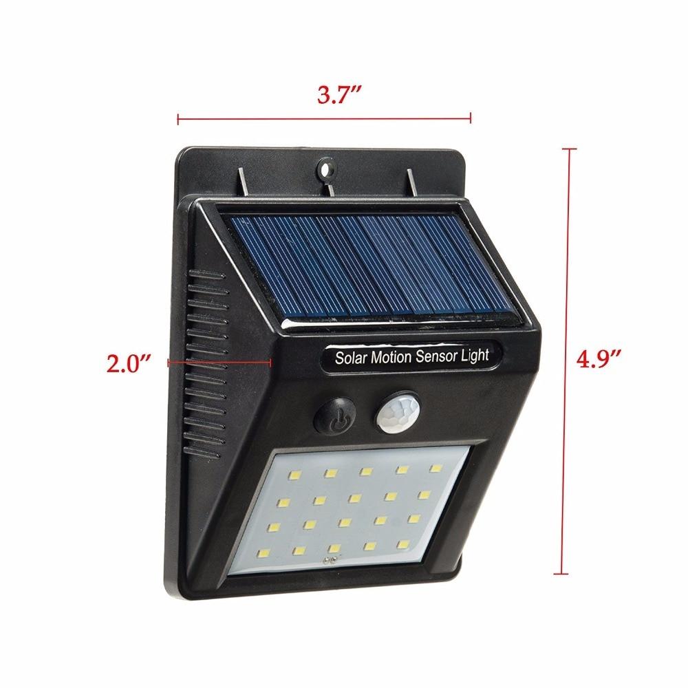 LED Solar Wall Light Motion Sensor Outdoor Waterproof Yard Street Lighting Lamp
